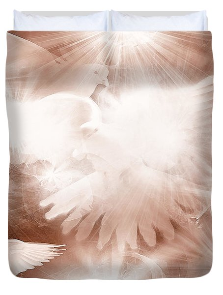 Holy Light Duvet Cover