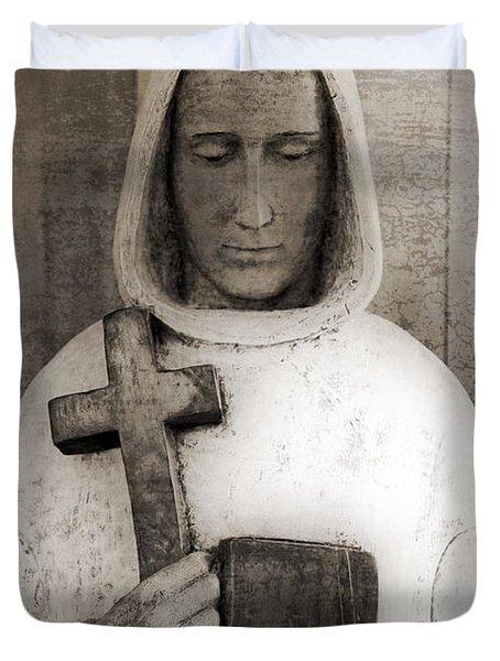 Holy Man Duvet Cover by Edward Fielding