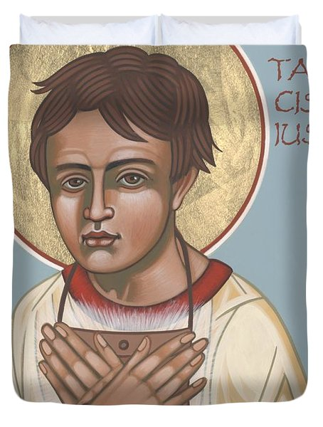 Holy Martyr St. Tarcisius Patron Of Altar Servers 271 Duvet Cover