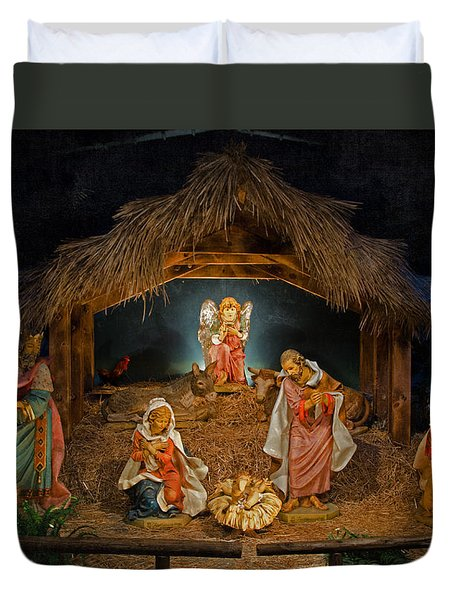 Holy Night Duvet Cover by Susan  McMenamin