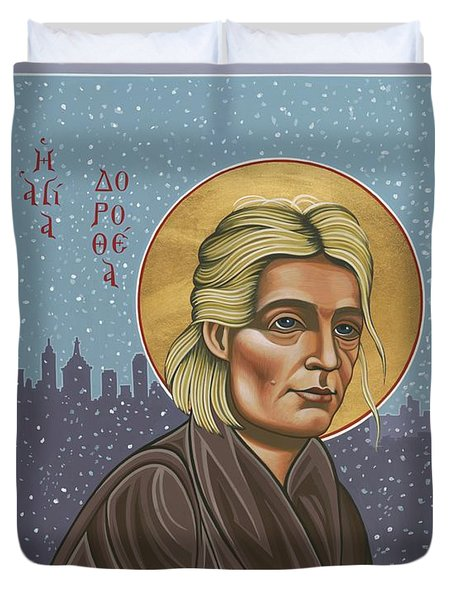Holy Prophet Dorothy Day 154 Duvet Cover by William Hart McNichols