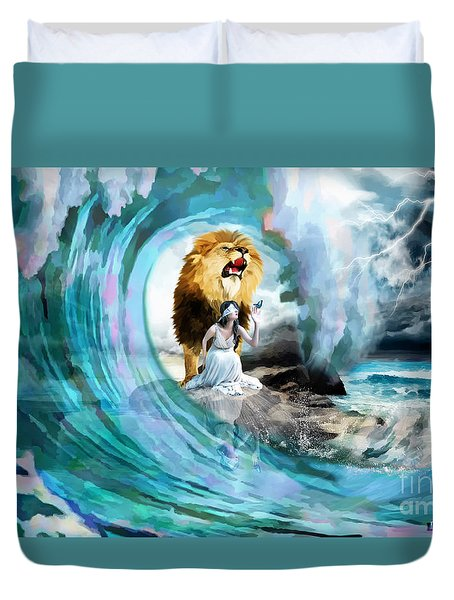 Holy Roar Duvet Cover