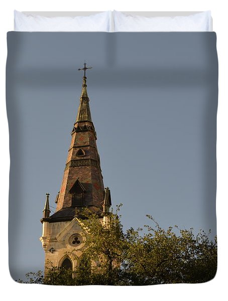 Duvet Cover featuring the photograph Holy Tower   by Shawn Marlow