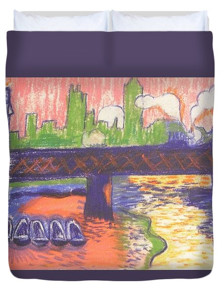 Homage To' Derain' Westminster Bridge 1906 Duvet Cover