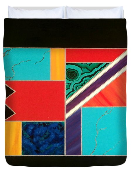 Homage To Inlay #1 Duvet Cover by Karyn Robinson