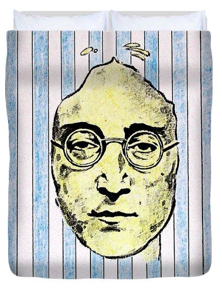Homage To John Lennon  Duvet Cover by John  Nolan