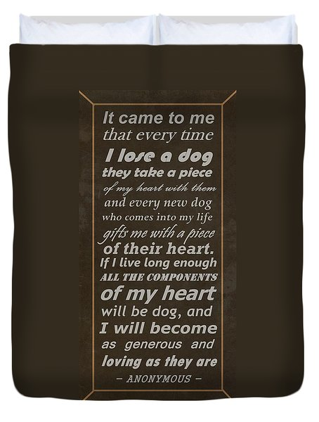 Homage To The Dogs In Our Lives Duvet Cover by Movie Poster Prints