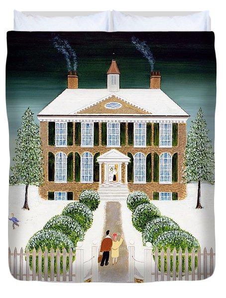 Home For Christmas Duvet Cover