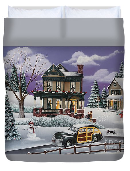 Home For The Holidays 2 Duvet Cover by Catherine Holman
