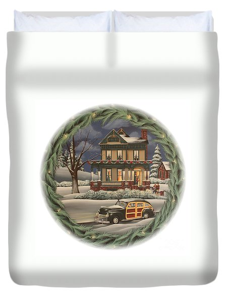 Home For The Holidays Duvet Cover by Catherine Holman