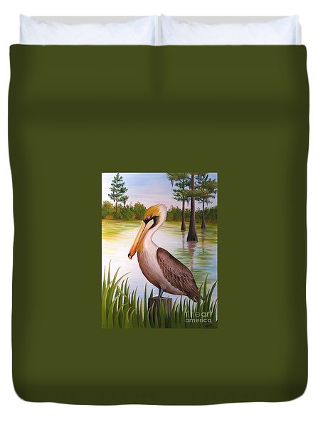 Home On The Bayou  Duvet Cover
