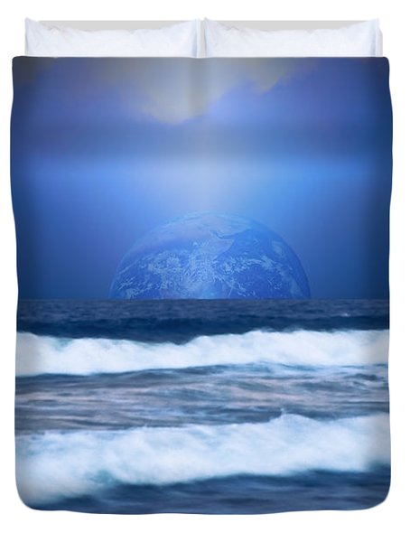 Home On The Horizon Duvet Cover