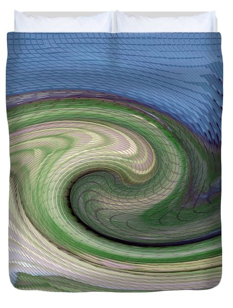 Home Planet - Gravity Well Duvet Cover by Bill Owen