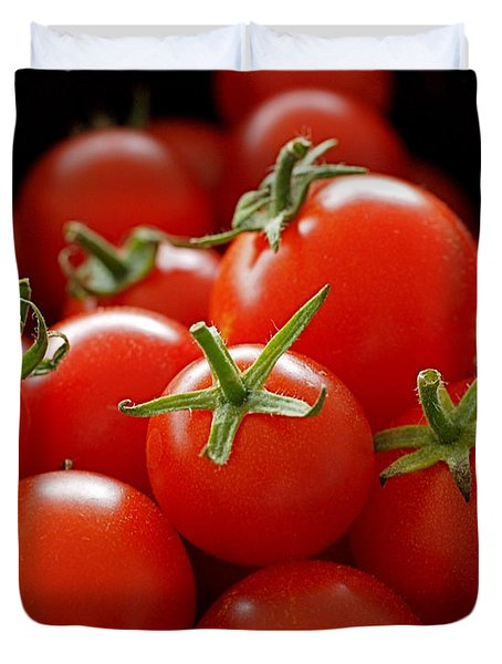 Homegrown Tomatoes Duvet Cover by Rona Black