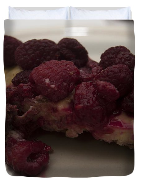 Duvet Cover featuring the photograph Homemade Cheesecake by Miguel Winterpacht