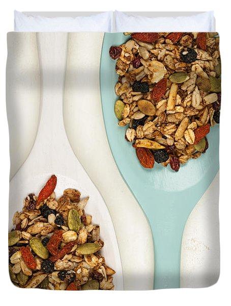 Homemade Granola In Spoons Duvet Cover