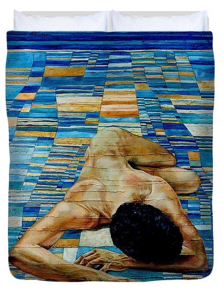 Homenaje A Paul Klee Duvet Cover by Nancy Almazan