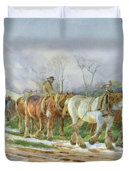 Homeward Bound Duvet Cover by Charles James Adams