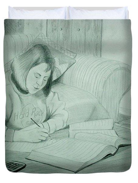 Homework Duvet Cover