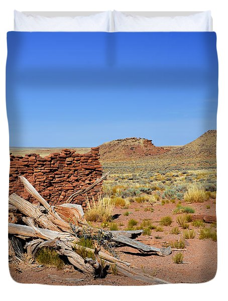 Homolovi Ruins State Park Arizona Duvet Cover by Christine Till