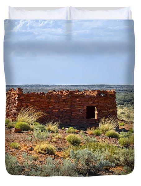 Homolovi Ruins State Park Az Duvet Cover by Christine Till