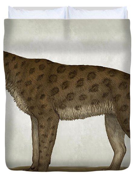 Homotherium Latidens, A Big Sabertooth Duvet Cover by Heraldo Mussolini