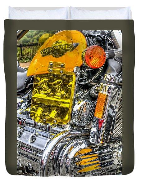 Honda Valkyrie 1 Duvet Cover by Steve Purnell