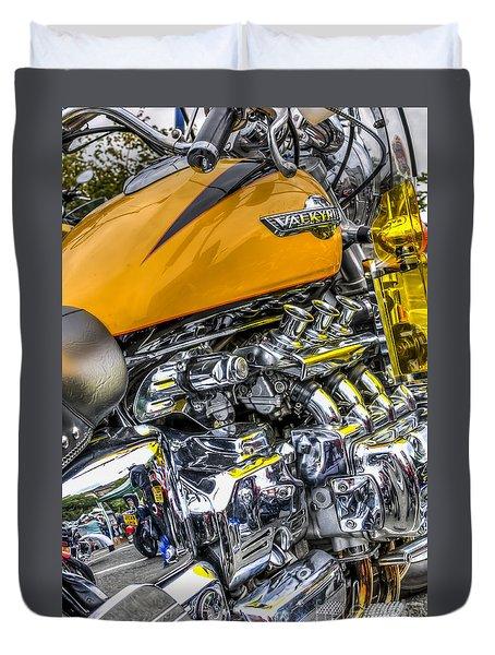 Honda Valkyrie 3 Duvet Cover by Steve Purnell