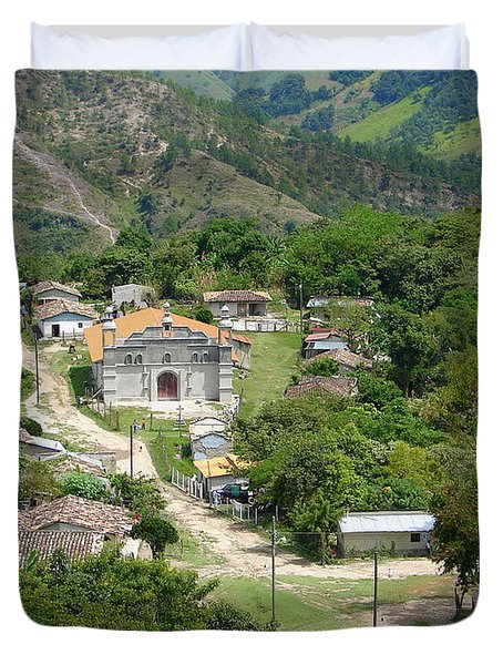 Honduras Mountain Village Duvet Cover