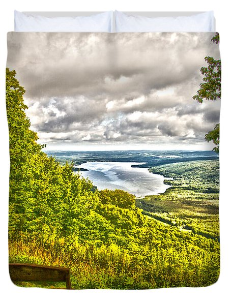 Honeoye Lake Overlook Duvet Cover