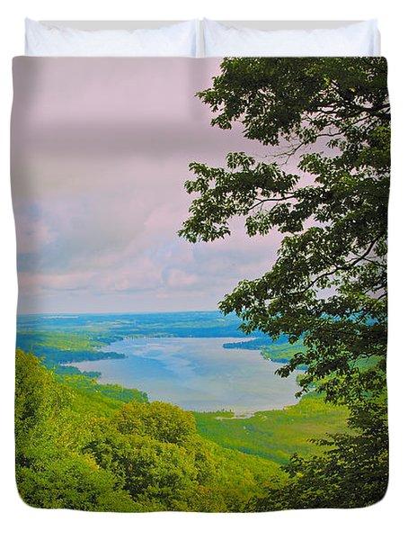 Honeoye Lake Duvet Cover