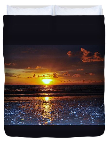 Honey Life Sunset Duvet Cover by Kicking Bear  Productions