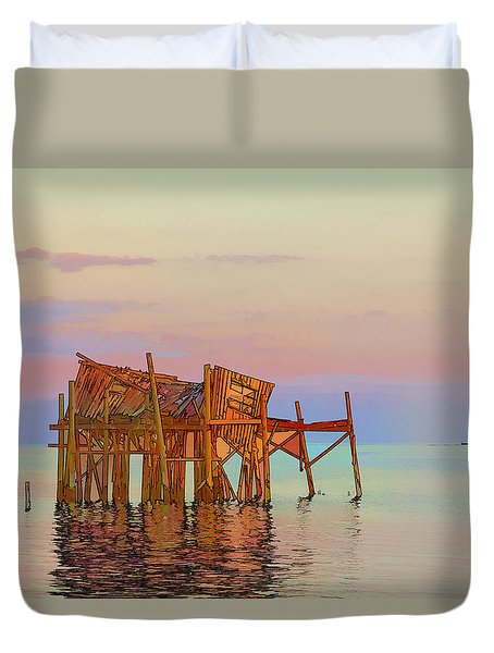 Honeymoon Cottage Duvet Cover