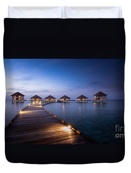 Honeymooners Paradise Duvet Cover