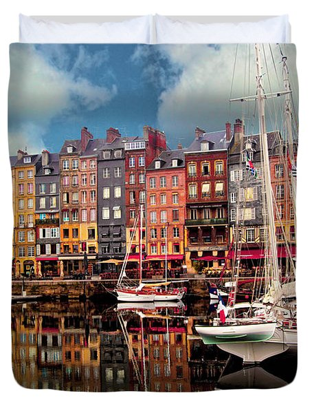 Honfleur Harbor Duvet Cover