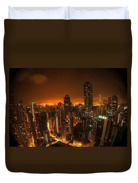 Hong Kong Gotham Duvet Cover