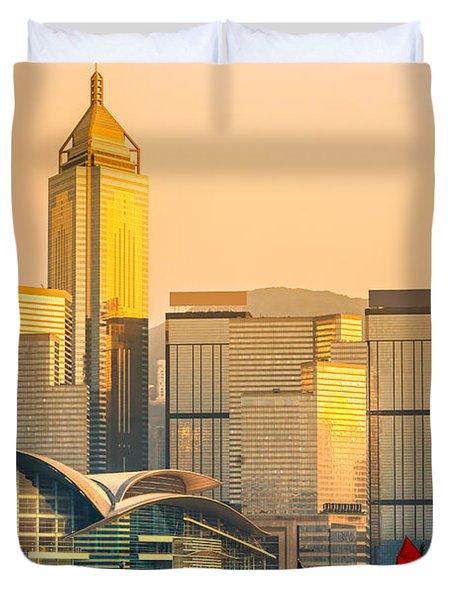 Hong Kong. Duvet Cover by Luciano Mortula