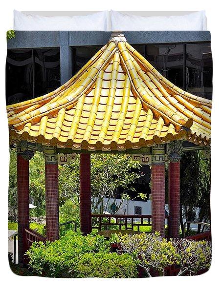 Honolulu Airport Chinese Cultural Garden Duvet Cover