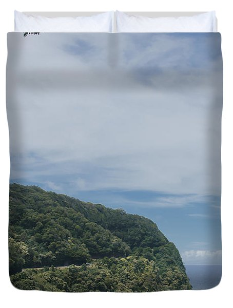 Honomanu - Highway To Heaven - Road To Hana Maui Hawaii Duvet Cover by Sharon Mau
