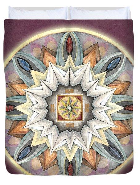 Honor Mandala Duvet Cover