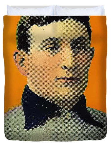 Honus Wagner Baseball Card 0838 Duvet Cover