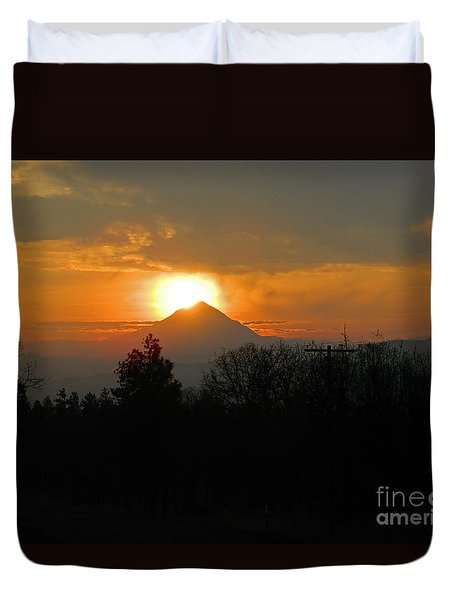 Hood On Fire Duvet Cover