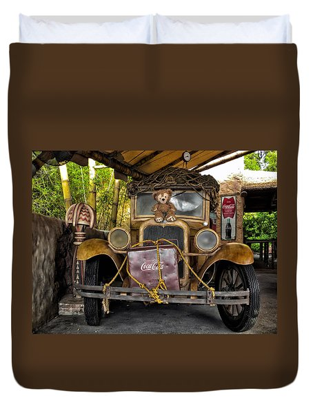 Hood Ornament Bear 2 Duvet Cover by Thomas Woolworth