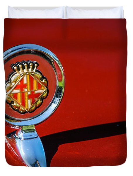 Hood Ornament On Matador Barcelona II Coupe Duvet Cover