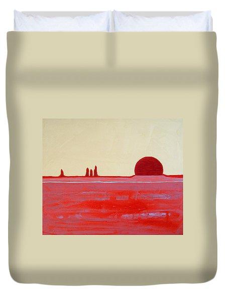 Hoodoo Sunrise Original Painting Duvet Cover