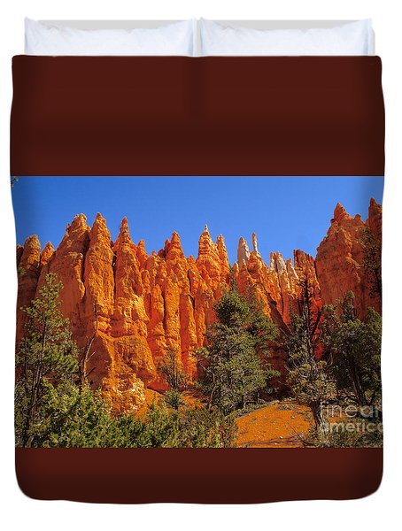 Hoodoos Along The Trail Duvet Cover by Robert Bales