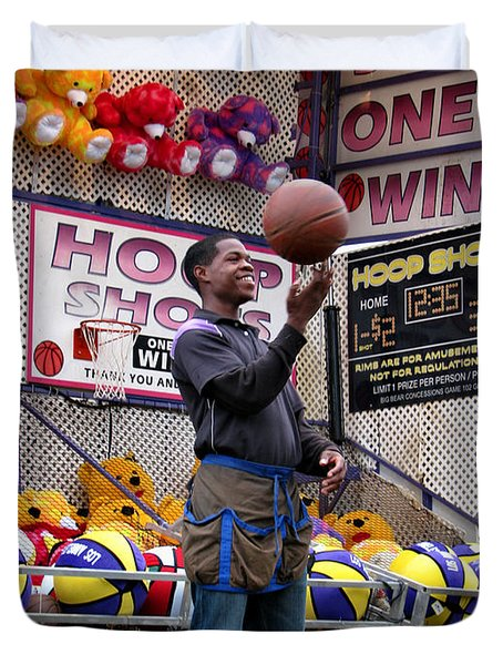 Hoop Shots Duvet Cover by Rory Sagner
