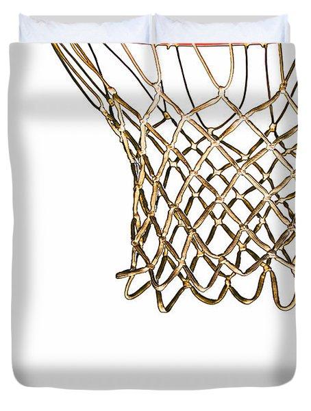 Hoops Anyone Duvet Cover by Karol Livote