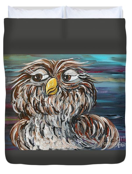 Hoo's Your Daddy Duvet Cover by Eloise Schneider