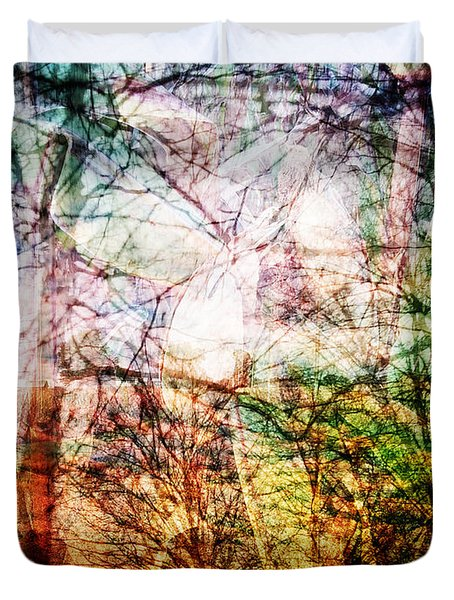 Duvet Cover featuring the mixed media Hoosier Country Opus 1 by Sandy MacGowan
